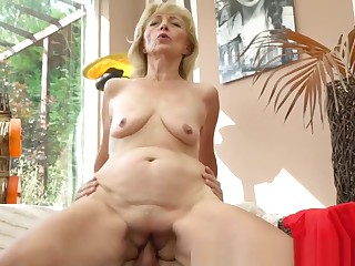 Glamcore Granny Rides Stiff Younger Dick