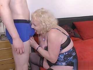 Claires Granny Cunt Pounded From Behind By A Young Man