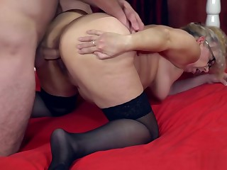 Big ass granny slammed by a horny stud