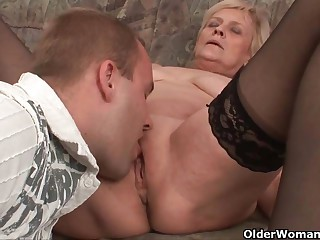 Unload your cock on grandma