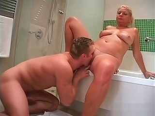 Teen Stud Cock Humped By Hot Blonde Mature