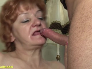 Hungarian Granny Was Toying Her Hairy Pussy For A While, Before Getting Fucked Hard, On The Sofa