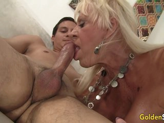 Busty Granny Pleasures Young Lover With Mouth And Pussy With Mandi Mcgraw