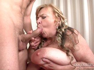 Busty Granny Sucks Cock And Rides Cock Hard